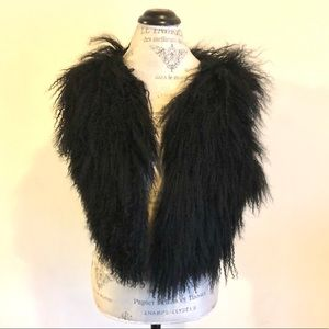 Cute Black Lamb Leather Vest